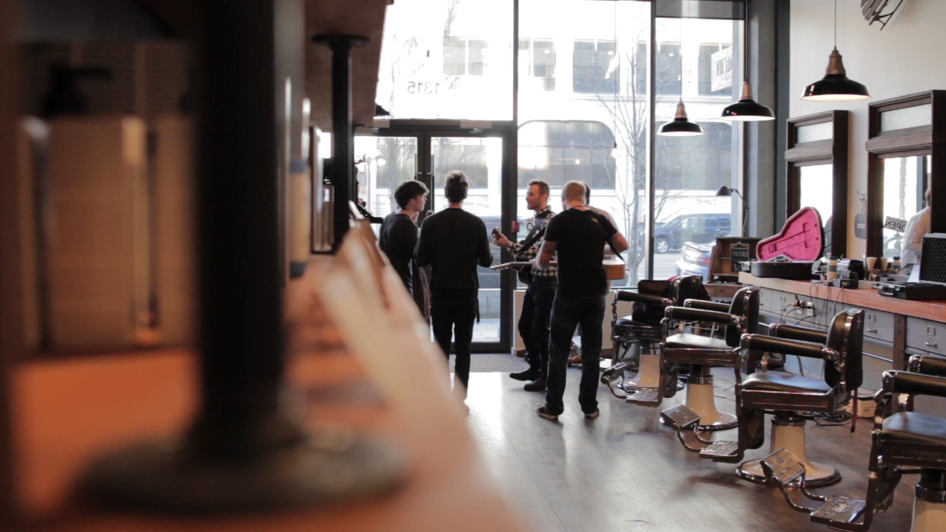 Video Archive- 2013-03-03: #TeamYYJ at Victory Barber & Brand