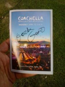 Gordon Gano Autograph